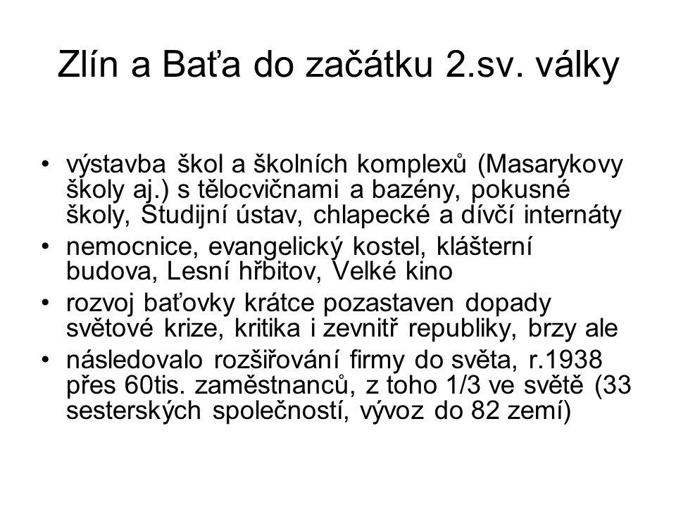 Zlín a Baťa do začátku 2.sv. války