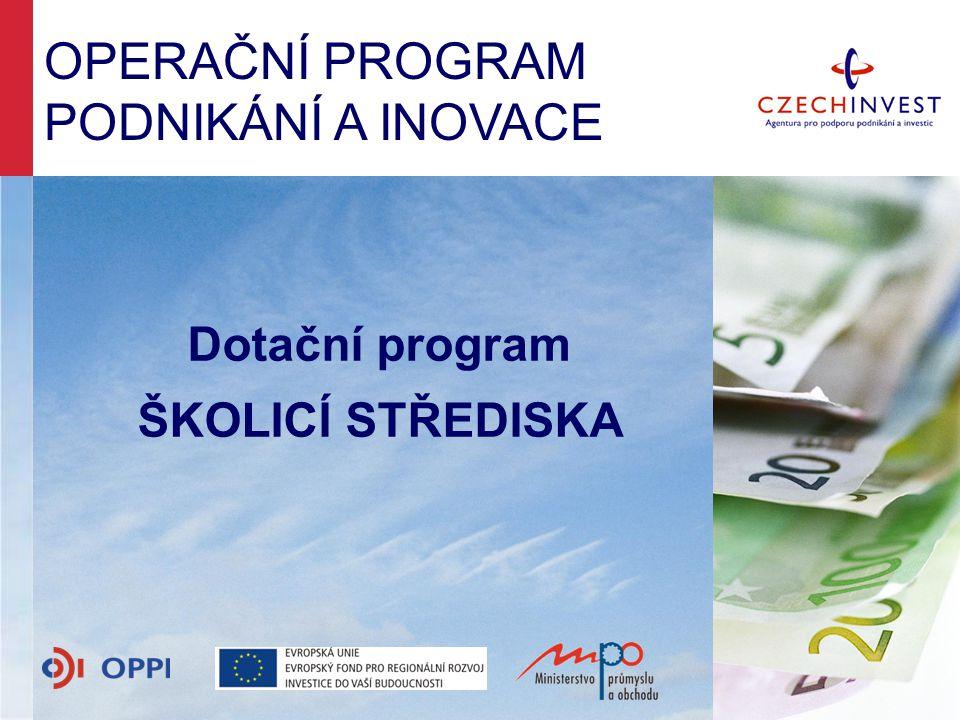 Dotační program ŠKOLICÍ STŘEDISKA