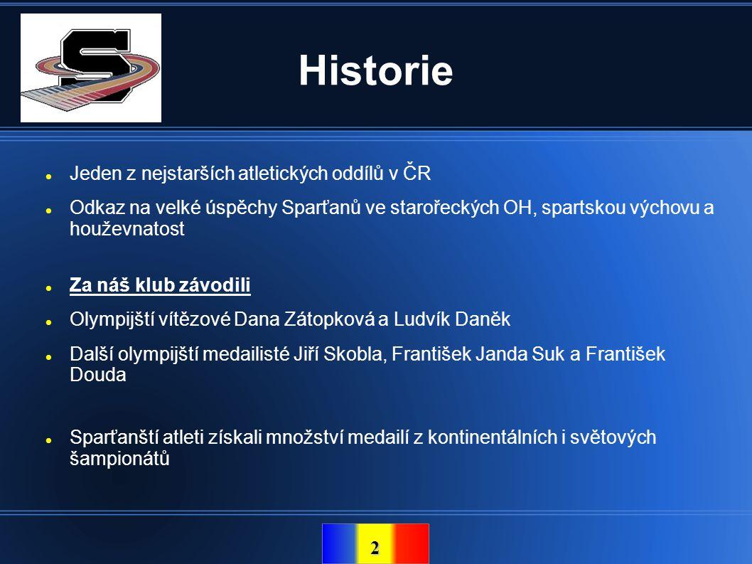 Historie Jeden z nejstarších atletických oddílů v ČR