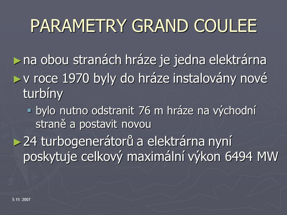 PARAMETRY GRAND COULEE