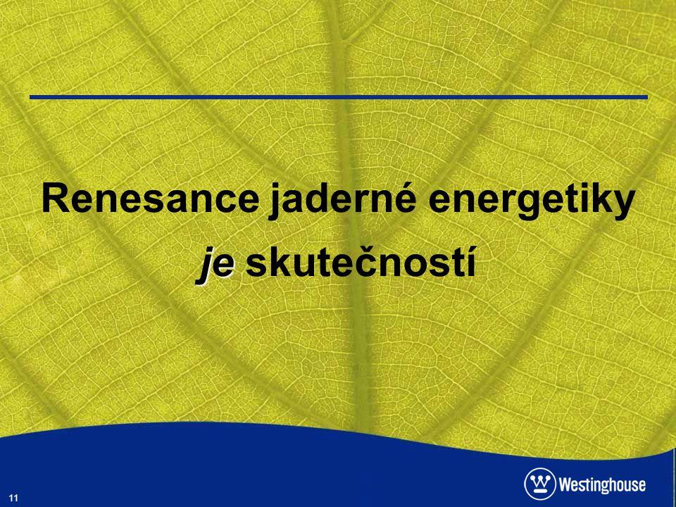 Renesance jaderné energetiky je skutečností