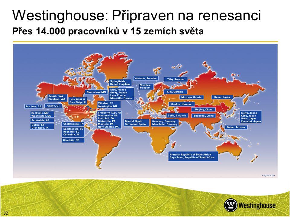 Westinghouse: Připraven na renesanci Přes 14