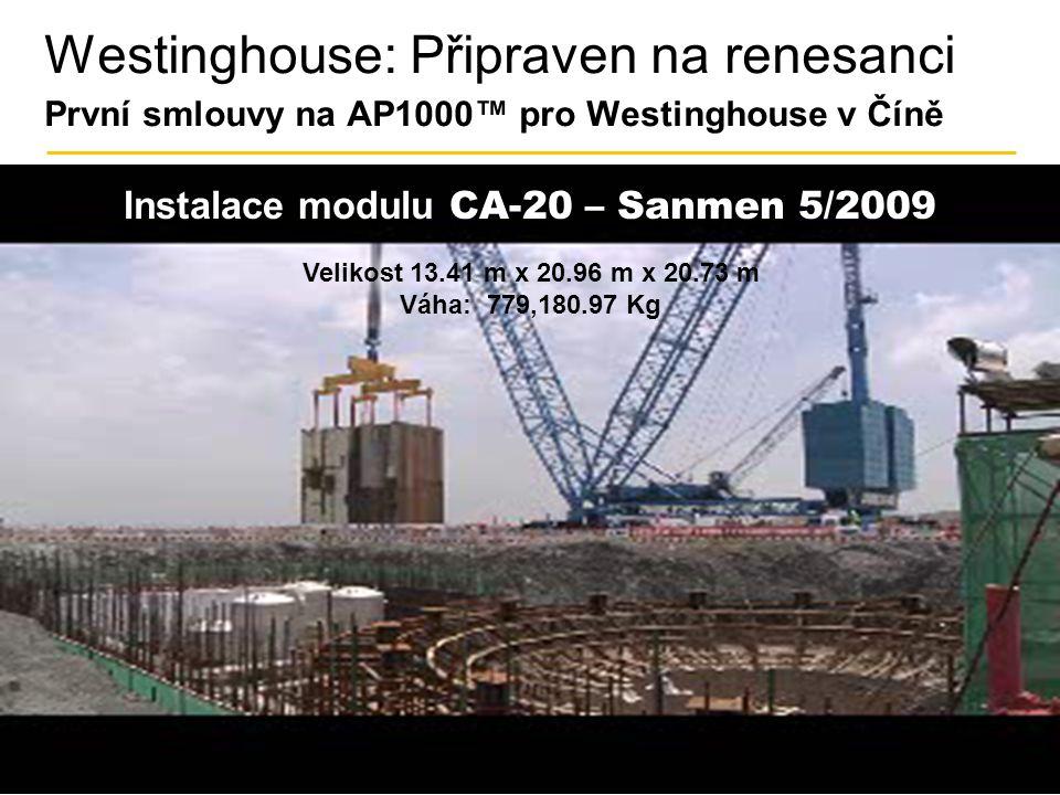 Instalace modulu CA-20 – Sanmen 5/2009