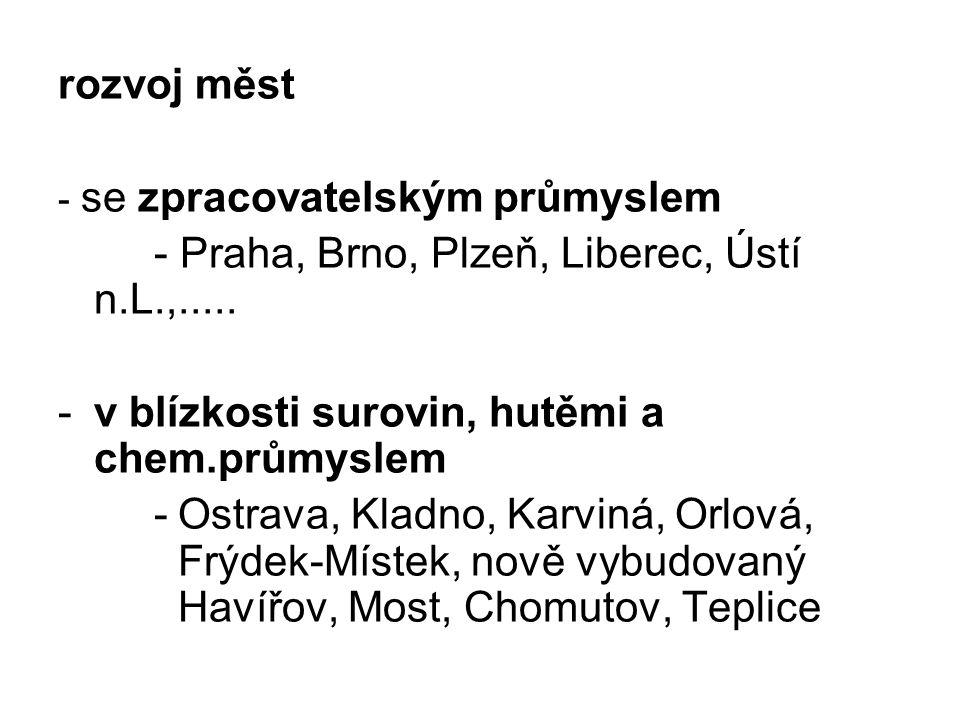 - Praha, Brno, Plzeň, Liberec, Ústí n.L.,.....
