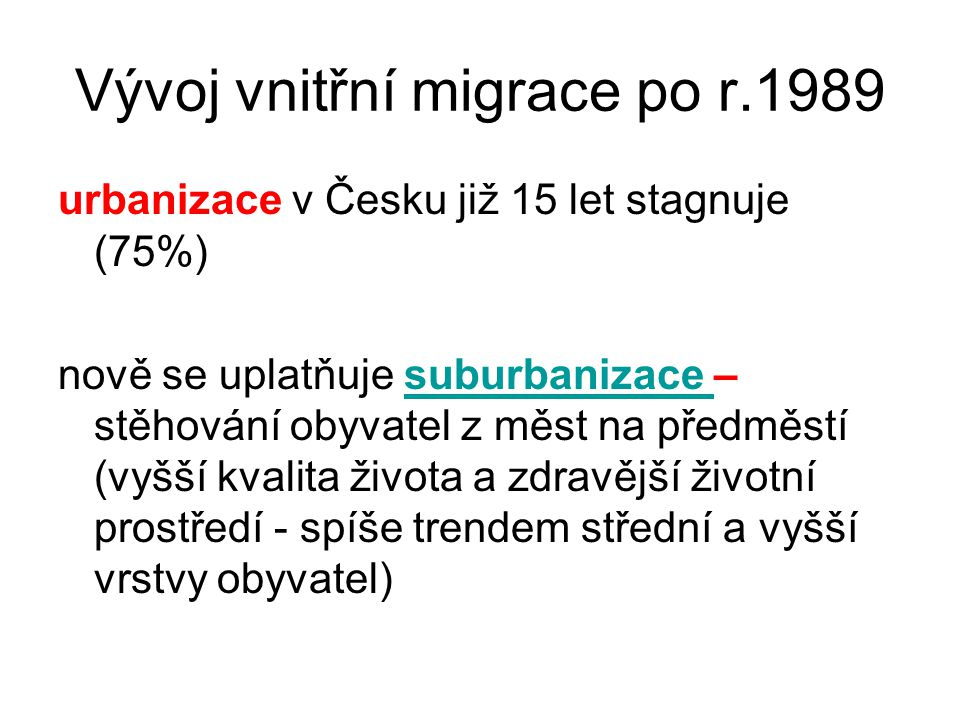 Vývoj vnitřní migrace po r.1989
