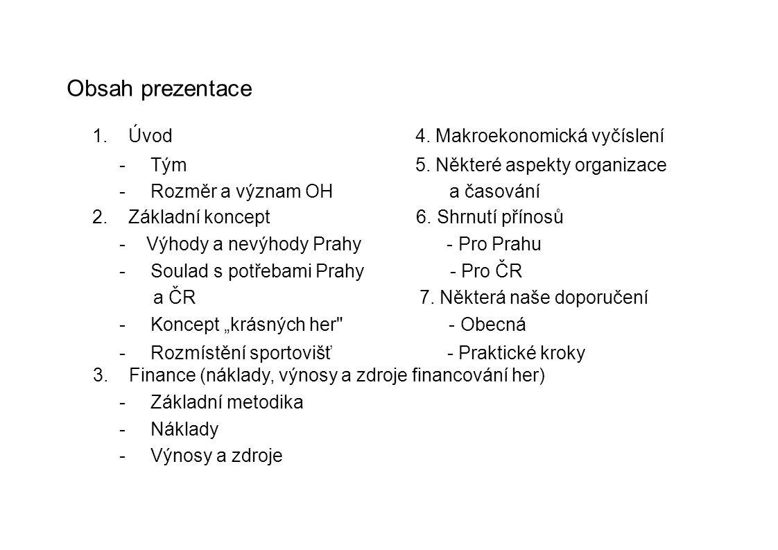 Obsah prezentace 1. Úvod 4. Makroekonomická vyčíslení