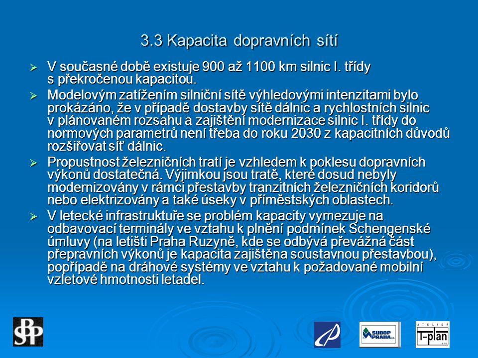 3.3 Kapacita dopravních sítí