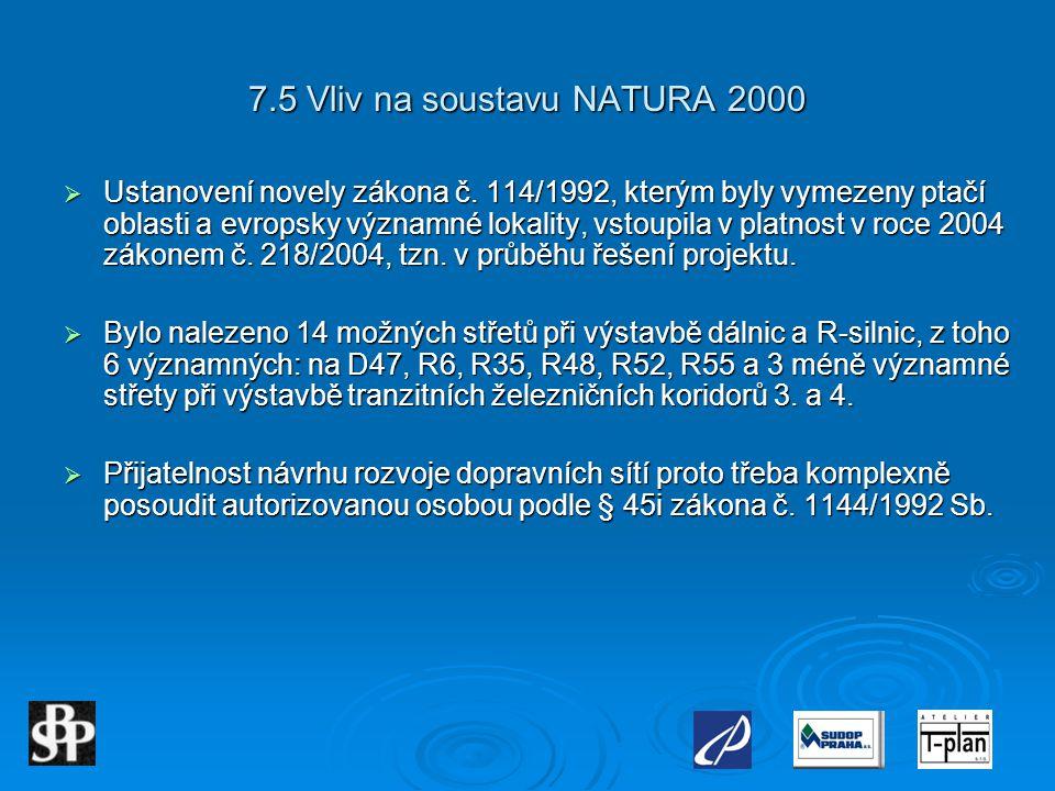 7.5 Vliv na soustavu NATURA 2000