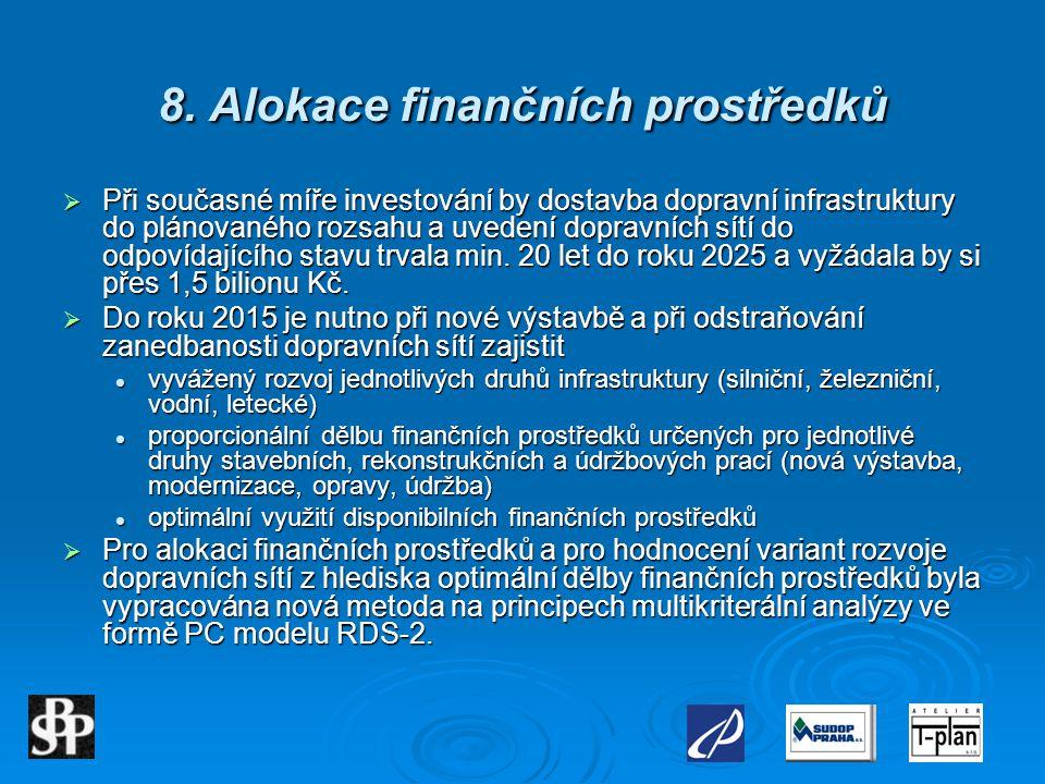 8. Alokace finančních prostředků