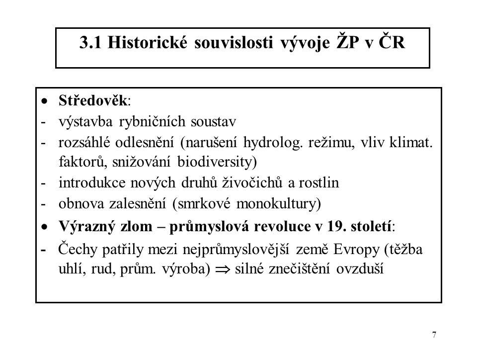 3.1 Historické souvislosti vývoje ŽP v ČR