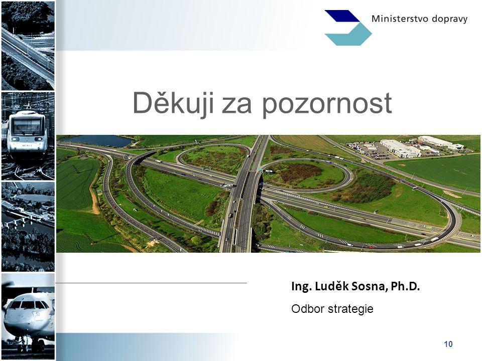 Děkuji za pozornost Ing. Luděk Sosna, Ph.D. Odbor strategie