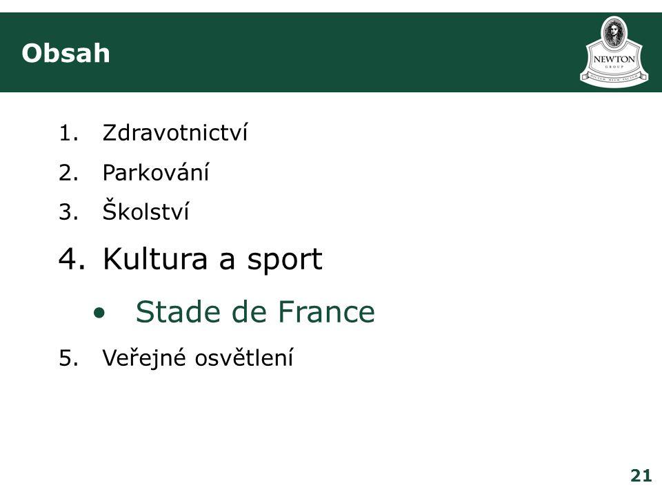 Kultura a sport Stade de France Obsah Zdravotnictví Parkování Školství