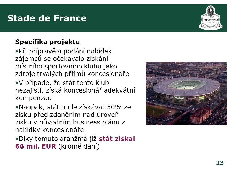 Stade de France Specifika projektu
