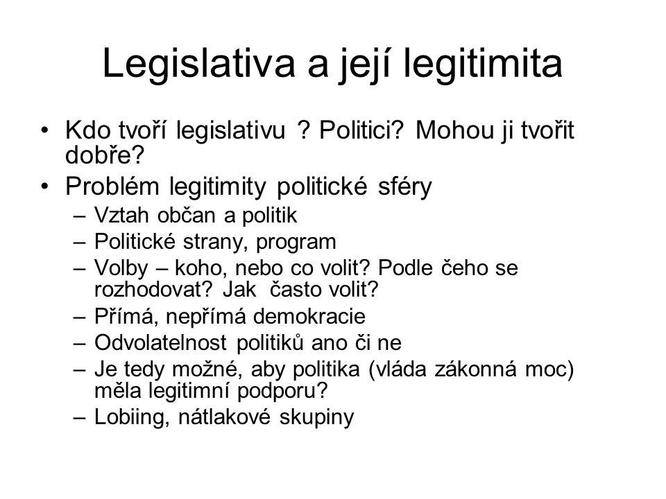 Legislativa a její legitimita