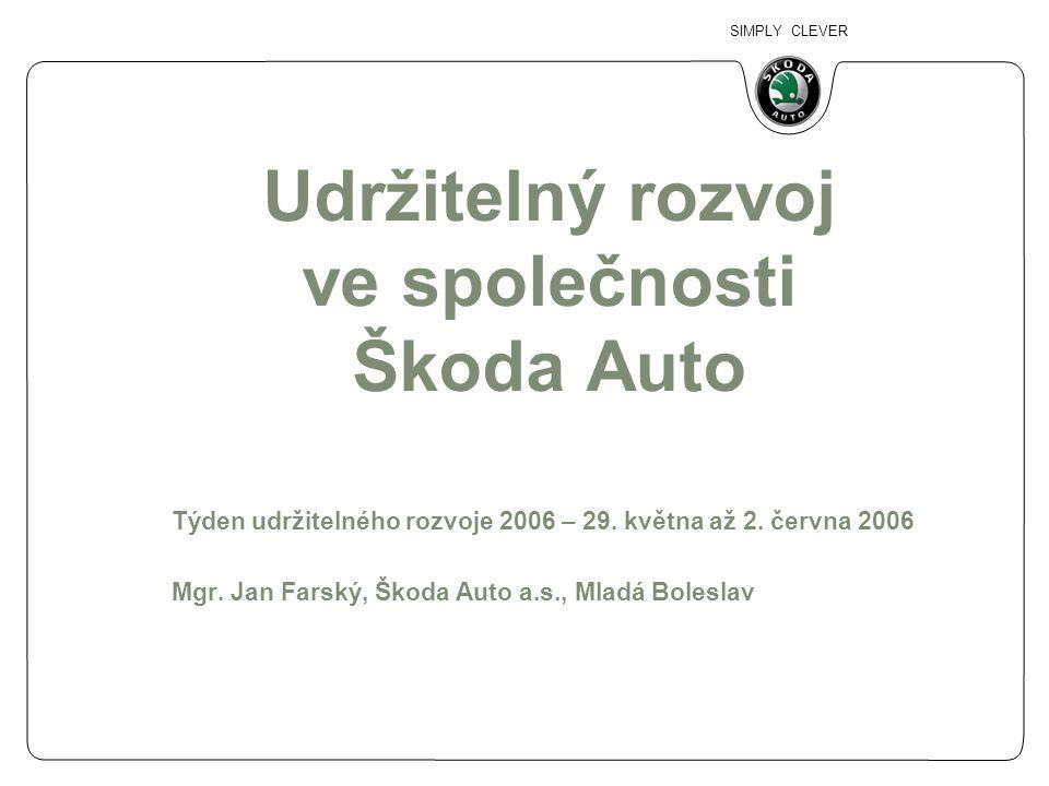 Udržitelný rozvoj ve společnosti Škoda Auto