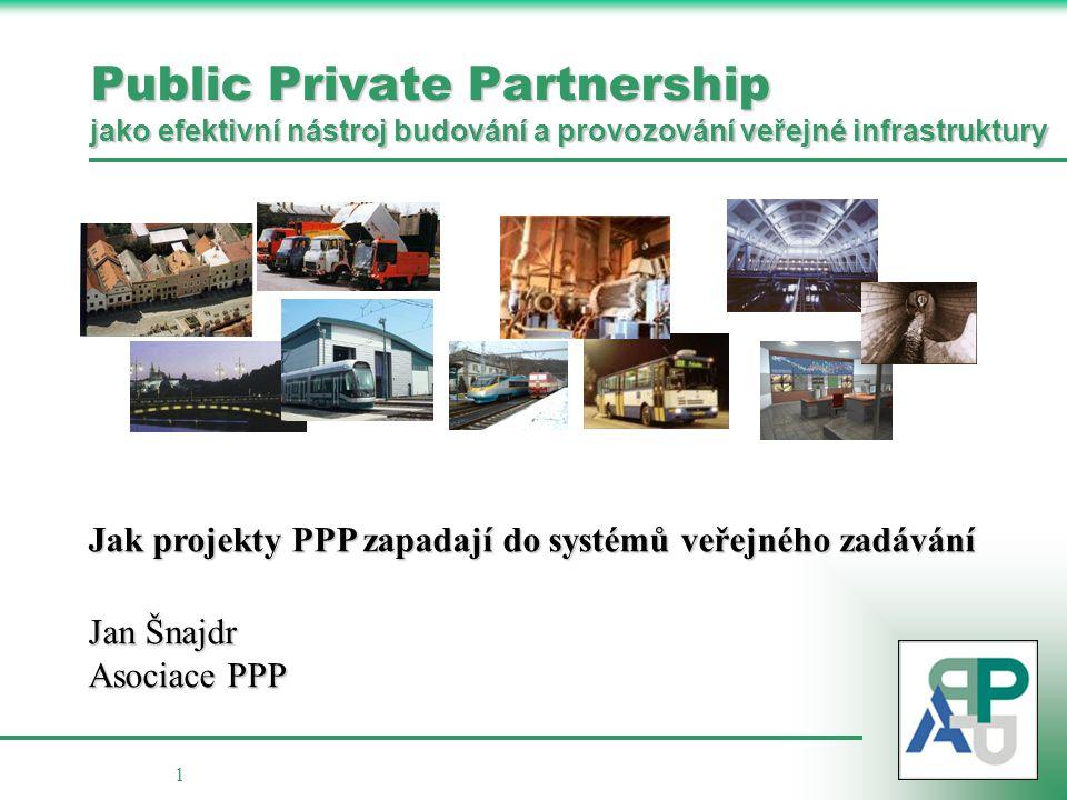 Public Private Partnership jako efektivní nástroj budování a provozování veřejné infrastruktury