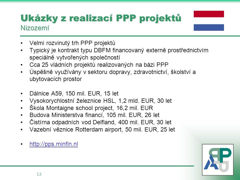 Ukázky z realizací PPP projektů Nizozemí