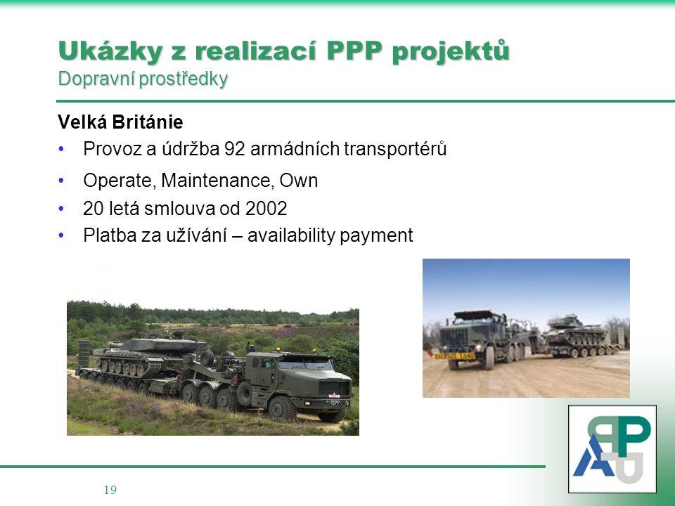 Ukázky z realizací PPP projektů Dopravní prostředky