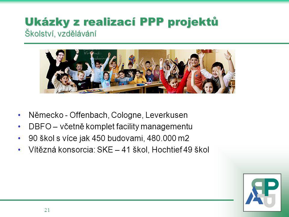 Ukázky z realizací PPP projektů Školství, vzdělávání