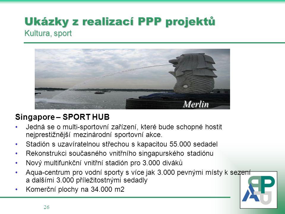 Ukázky z realizací PPP projektů Kultura, sport