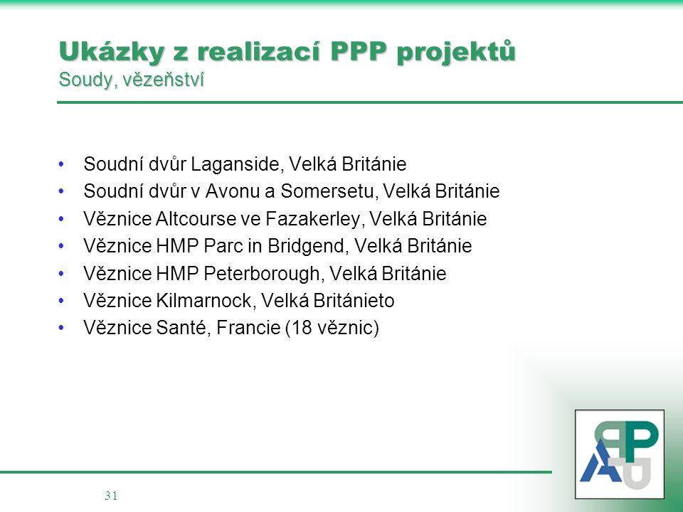 Ukázky z realizací PPP projektů Soudy, vězeňství