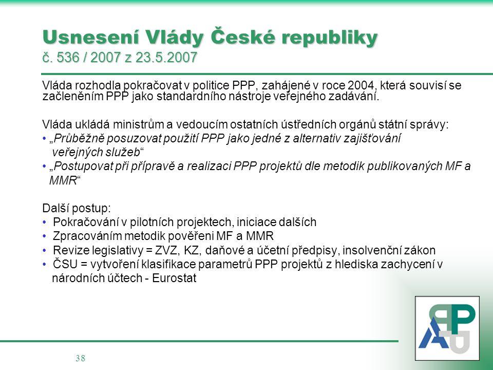Usnesení Vlády České republiky č. 536 / 2007 z 23.5.2007