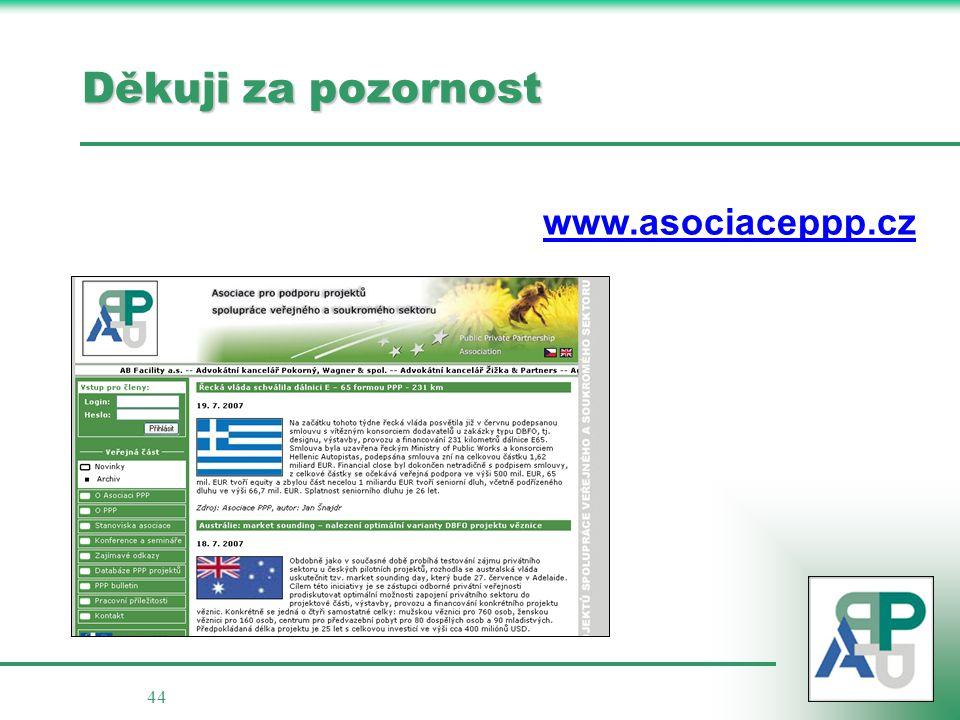 Děkuji za pozornost www.asociaceppp.cz