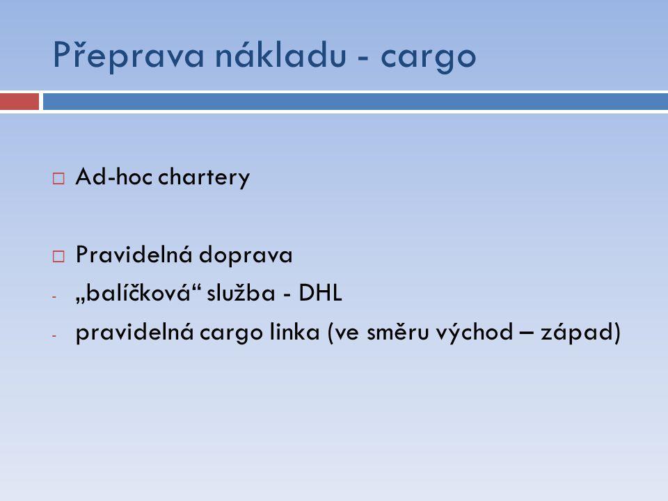 Přeprava nákladu - cargo