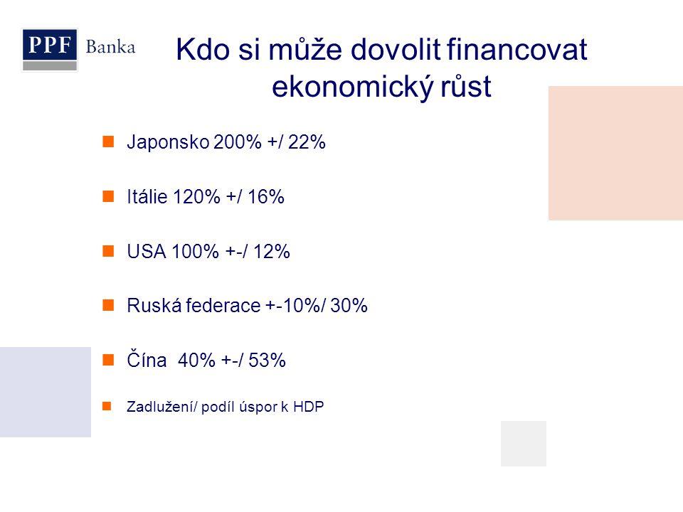 Kdo si může dovolit financovat ekonomický růst