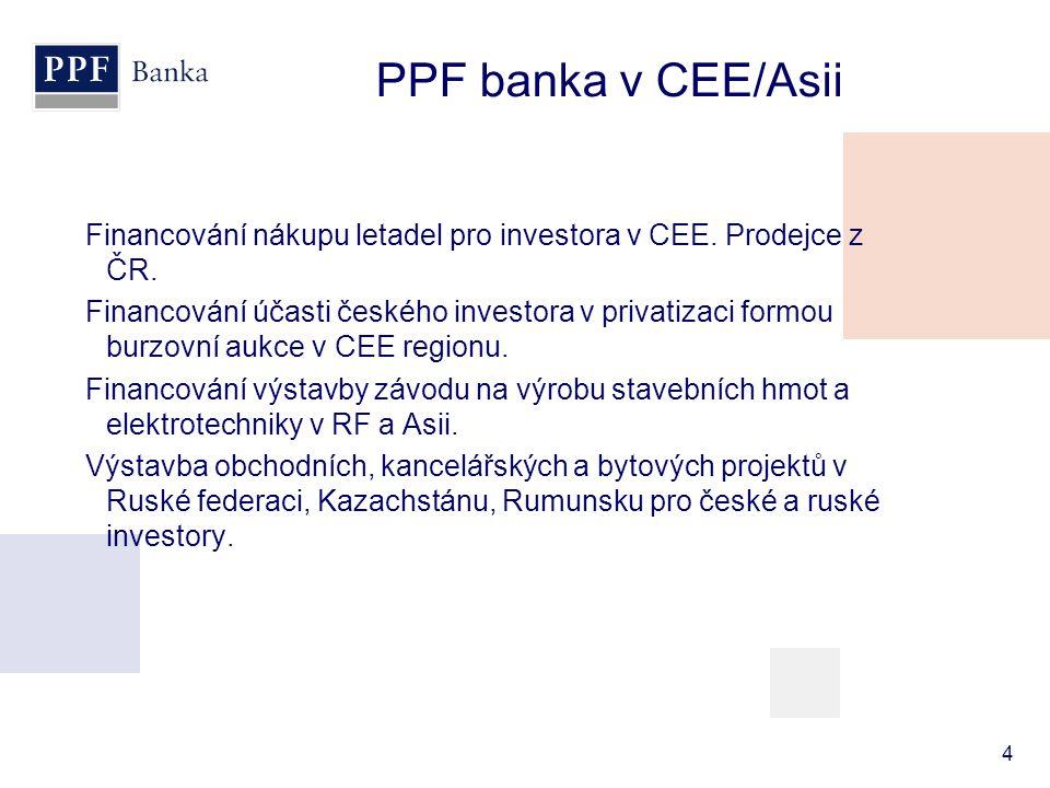 PPF banka v CEE/Asii
