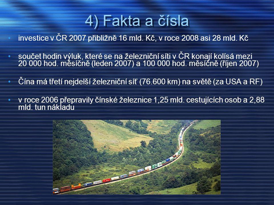 4) Fakta a čísla investice v ČR 2007 přibližně 16 mld. Kč, v roce 2008 asi 28 mld. Kč.