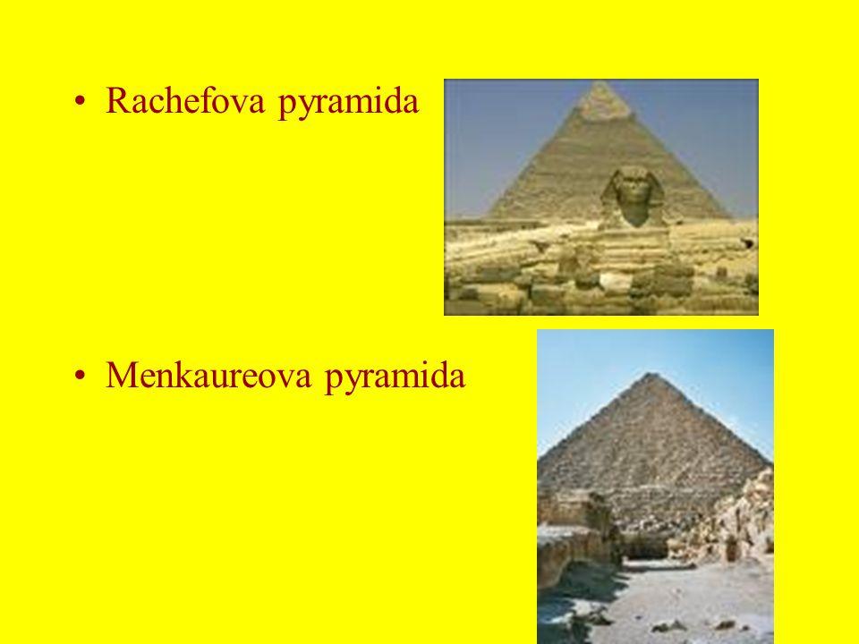 Rachefova pyramida Menkaureova pyramida