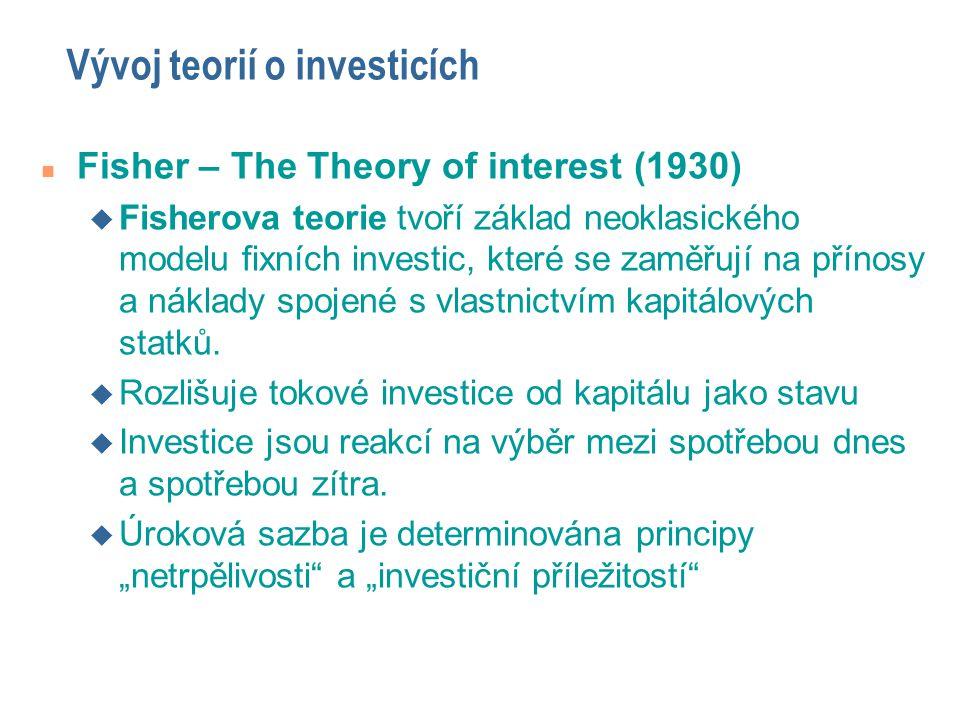 Vývoj teorií o investicích
