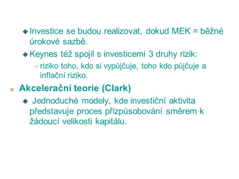 Akcelerační teorie (Clark)