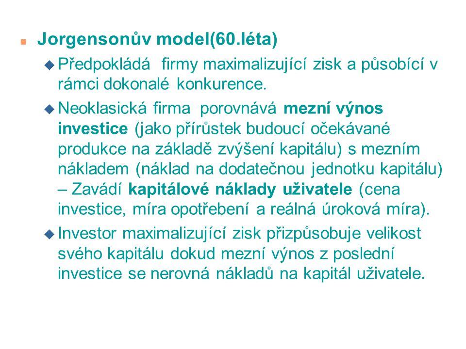 Jorgensonův model(60.léta)