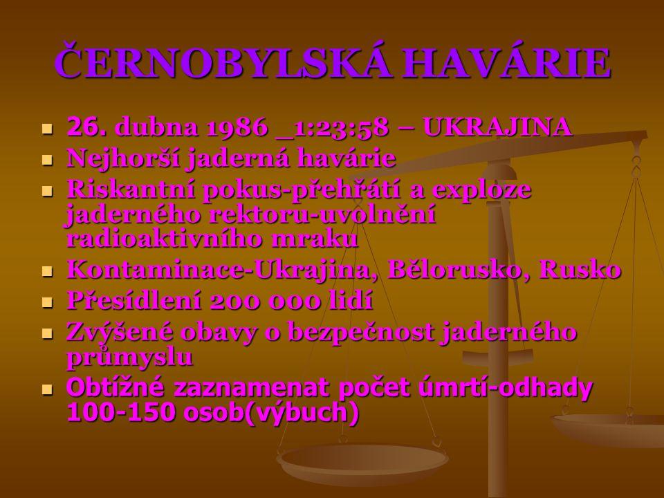 ČERNOBYLSKÁ HAVÁRIE 26. dubna 1986 _1:23:58 – UKRAJINA
