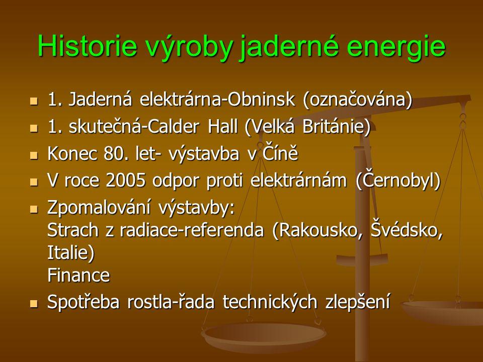 Historie výroby jaderné energie