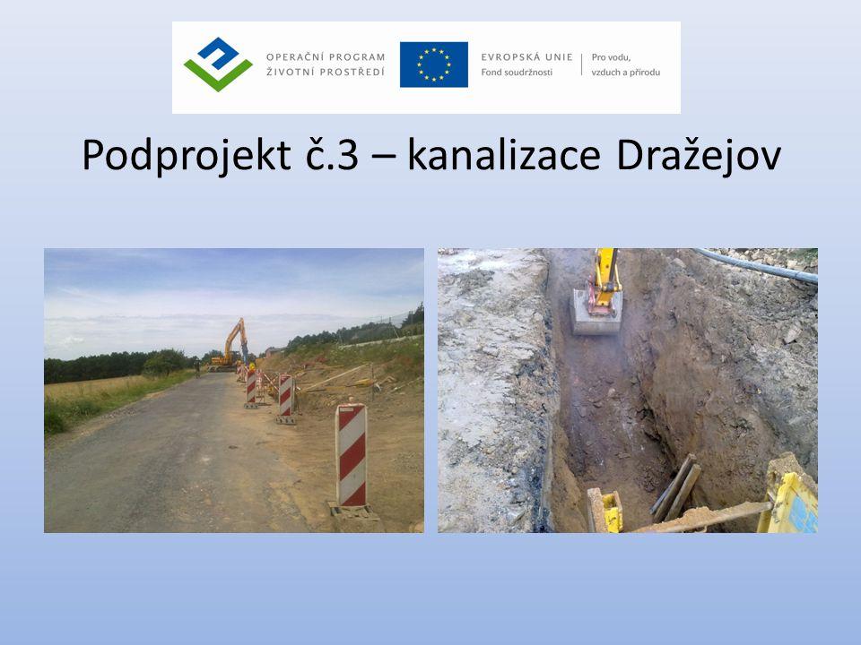 Podprojekt č.3 – kanalizace Dražejov