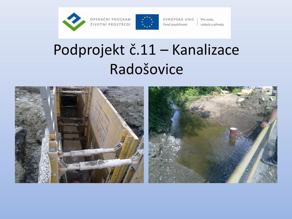 Podprojekt č.11 – Kanalizace Radošovice