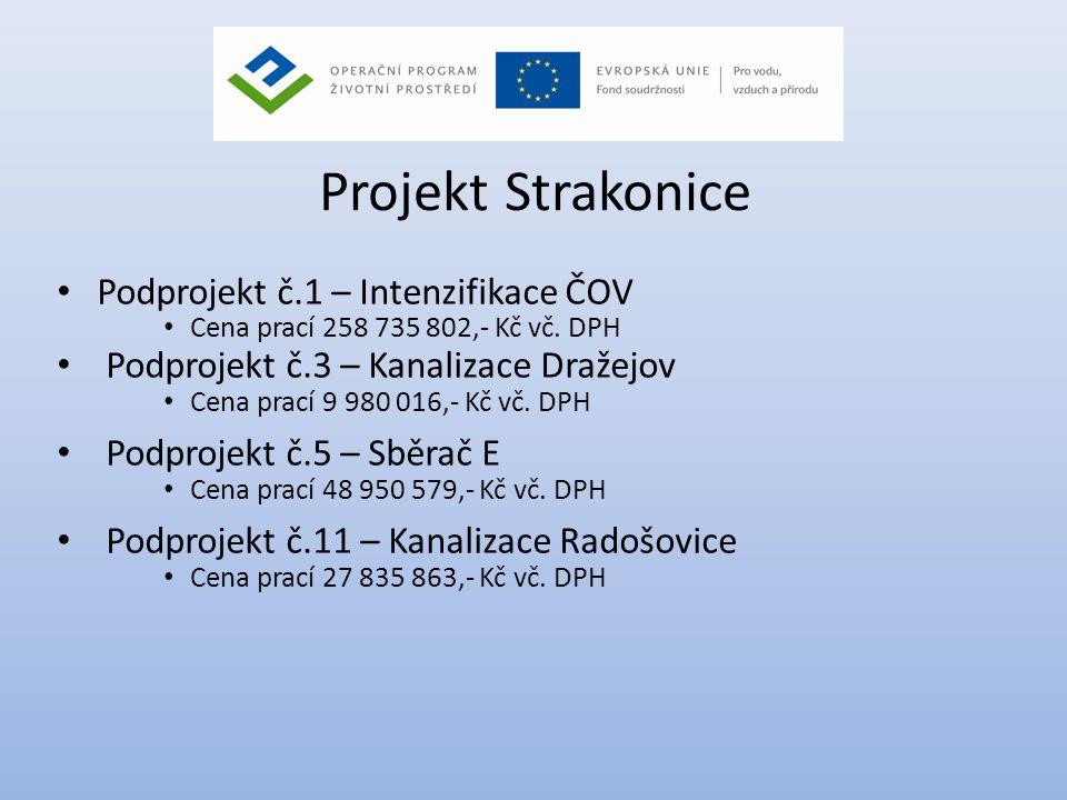 Projekt Strakonice Podprojekt č.1 – Intenzifikace ČOV