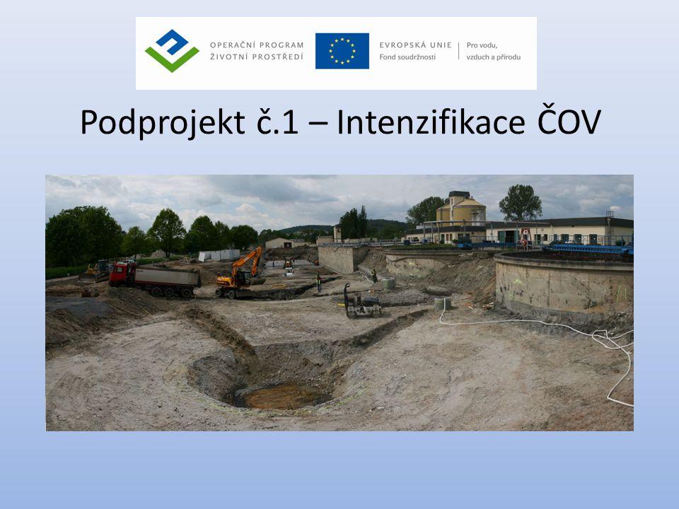 Podprojekt č.1 – Intenzifikace ČOV