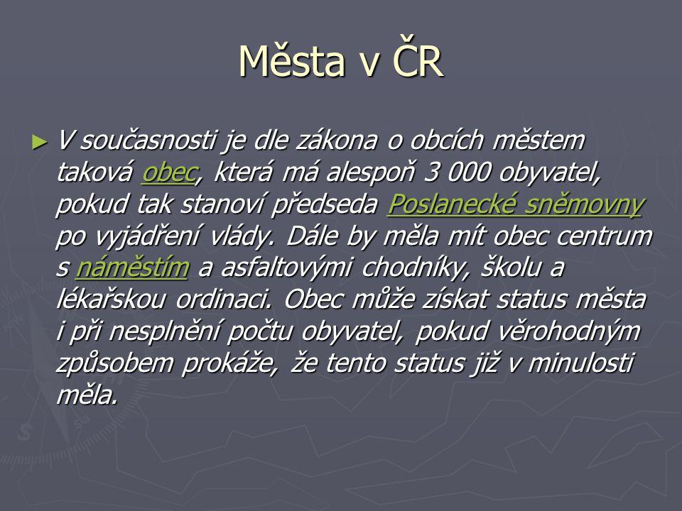 Města v ČR