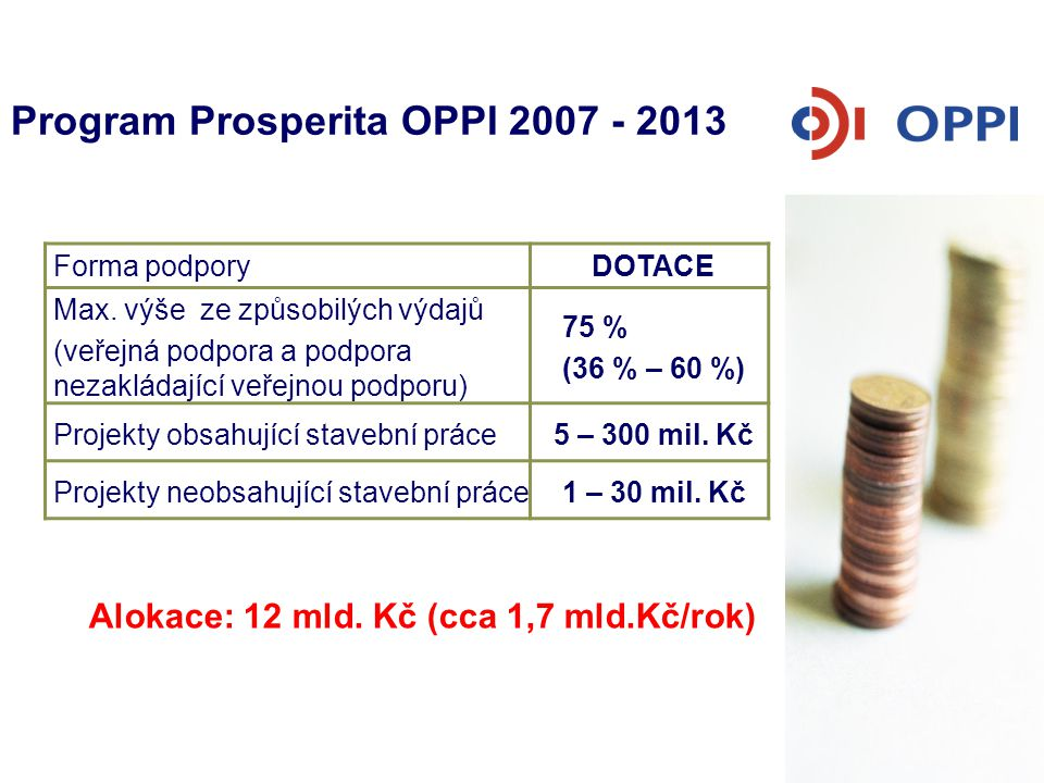Program Prosperita OPPI 2007 - 2013