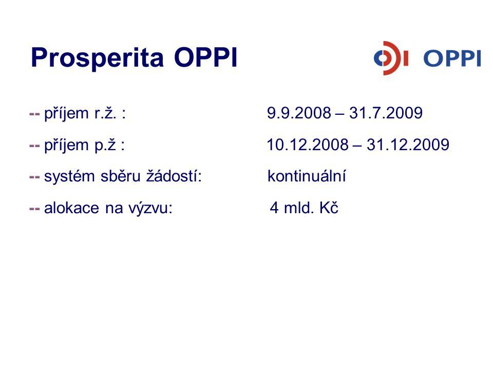 Prosperita OPPI -- příjem r.ž. : 9.9.2008 – 31.7.2009