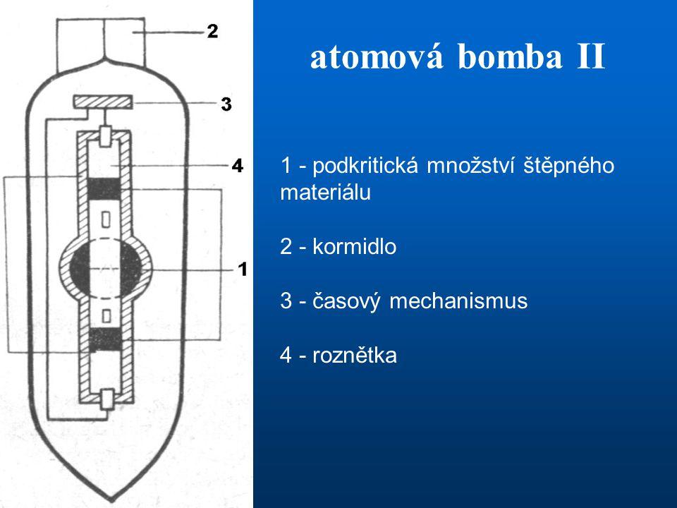 atomová bomba II 1 - podkritická množství štěpného materiálu