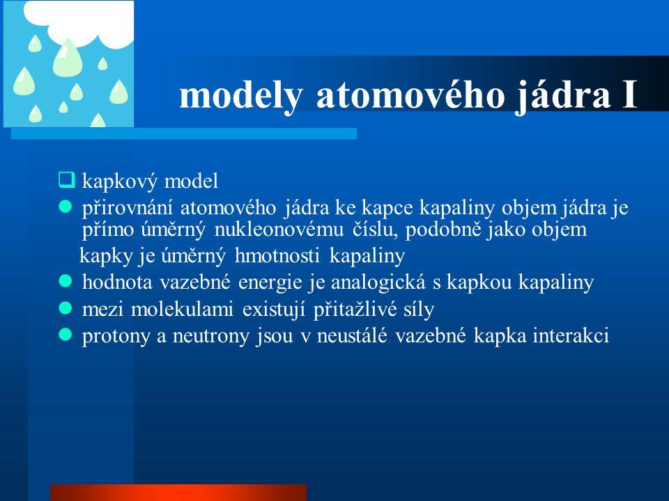 modely atomového jádra I