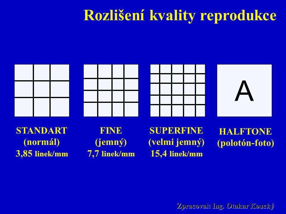 Rozlišení kvality reprodukce Zpracoval: Ing. Otakar Koucký