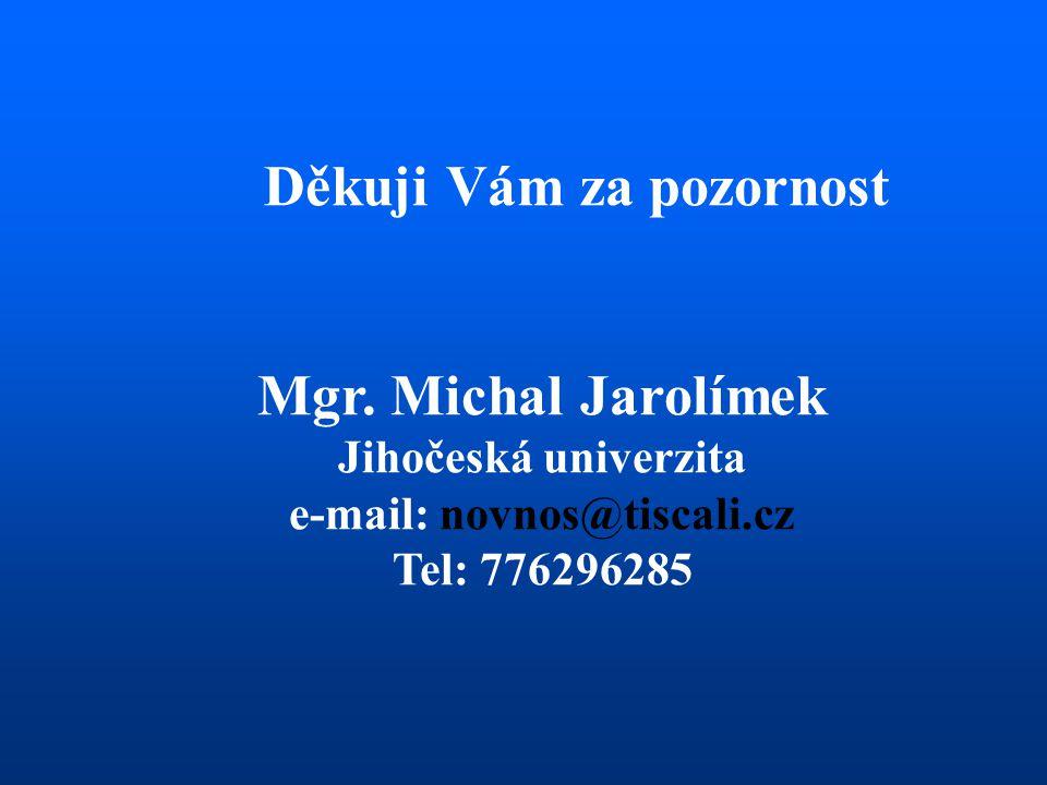 Děkuji Vám za pozornost e-mail: novnos@tiscali.cz