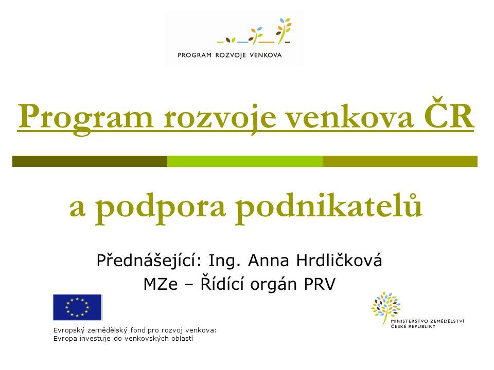 Program rozvoje venkova ČR a podpora podnikatelů