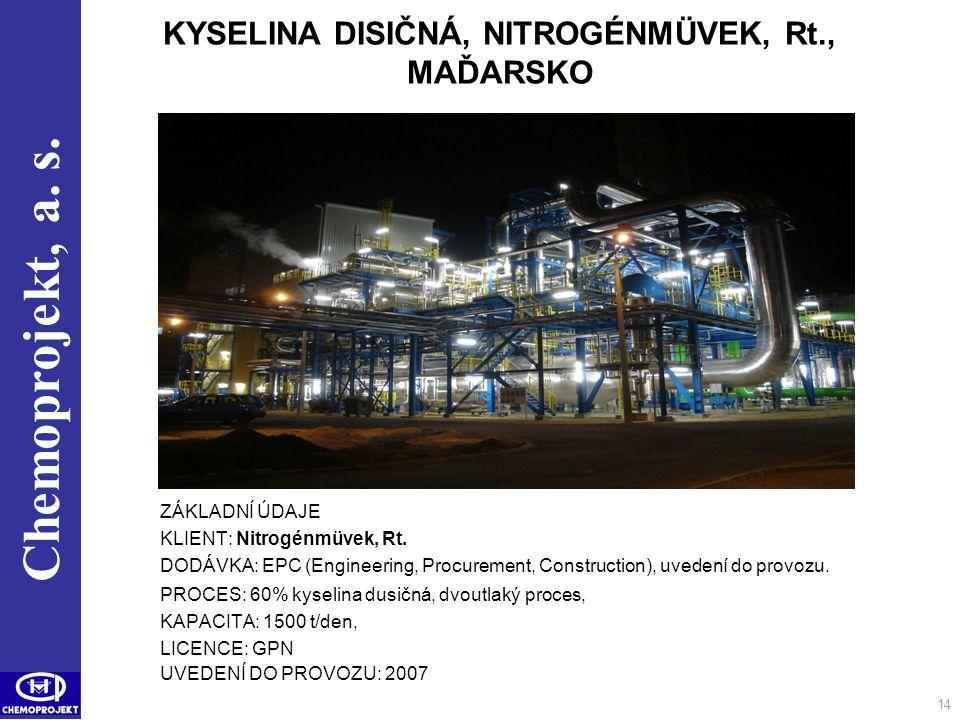 KYSELINA DISIČNÁ, NITROGÉNMÜVEK, Rt., MAĎARSKO